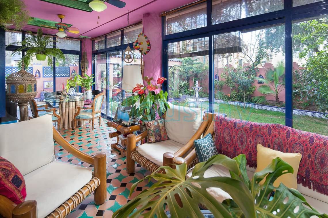 Casa en Pedregalejo con porche acristalado